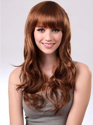 Affordable Wavy Long Capless Synthetic Wig