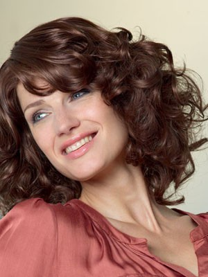 Attractive Wavy Medium Length Lace Front Synthetic Wig