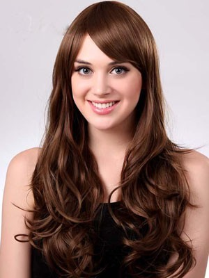 Polished Wavy Long Capless Synthetic Wig