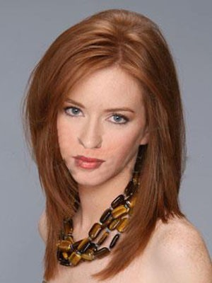 Cute Medium Lace Front Straight Synthetic Wig