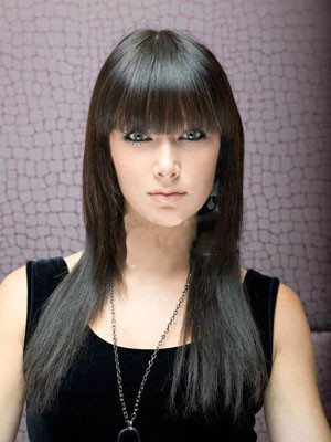 Flattering Synthetic Long Capless Straight Wig