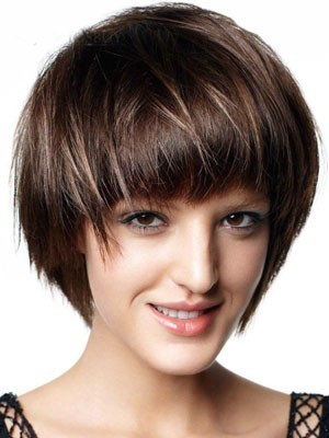 Short Capless Synthetic Straight Wig