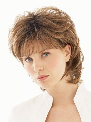 Stunning Shoulder Length Layered Synthetic Wig