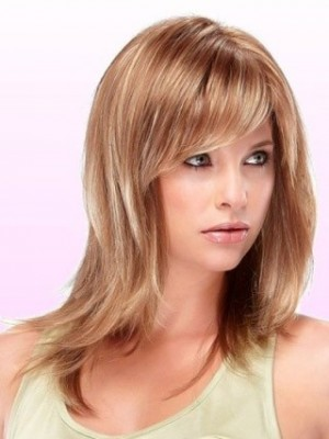 Beautiful Mid-Length Capless Synthetic Wig