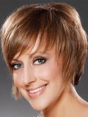 Short Synthetic Straight Capless Wig