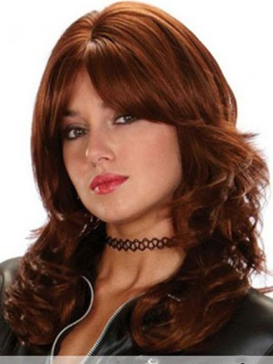 Fashionable Synthetic Wavy Capless Wig