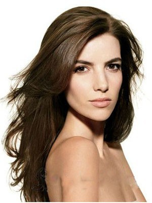 Elegant Lace Front Long Straight Synthetic Wig