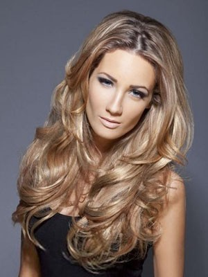 Pleasant Synthetic Wavy Lace Front Wig