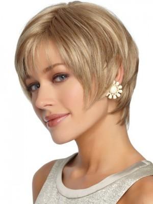 Fashion Sleek Straight Short Shag Synthetic Wig