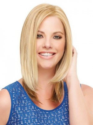 Graceful Mid-Length Straight Lace Front Synthetic Wig