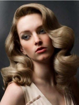 Glamorous Wavy Lace Front Synthetic Wig