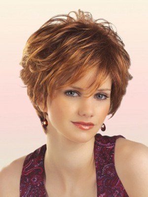 Synthetic Attractive Short Wavy Chic Wig