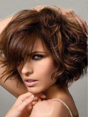 Amazing Chin Length Capless Wavy Human Hair Wig