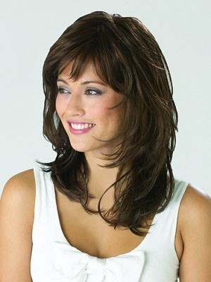 Shoulder Length Pleasant Wavy Synthetic Capless Wig