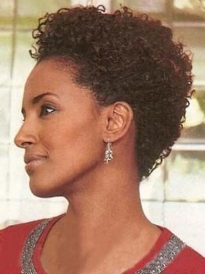 Popular Capless Short Curly 100% Remy Human Hair